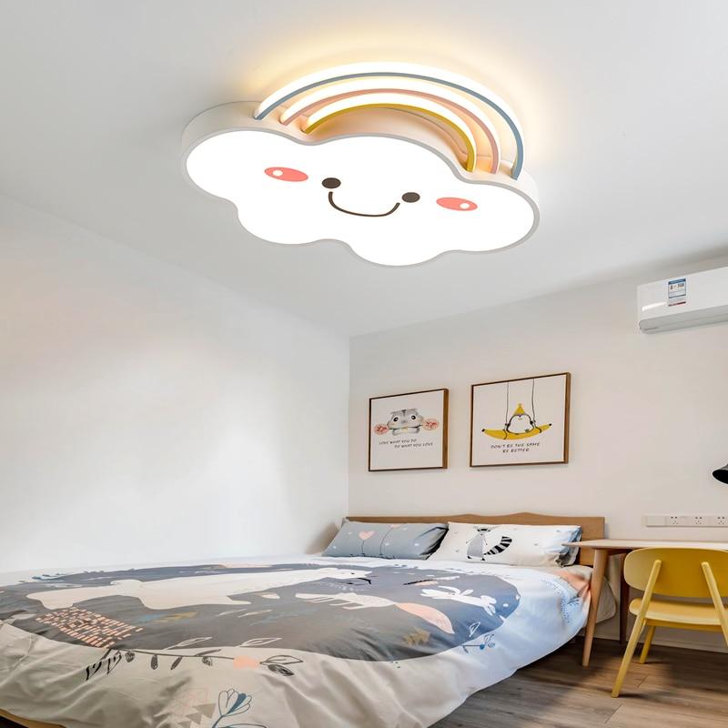 الحديثة وجيزة الأطفال غرفة نوم الملونة الغيوم الحديد LED مصباح السقف المنزل ديكو غرفة الطعام الاكريليك ضوء السقف