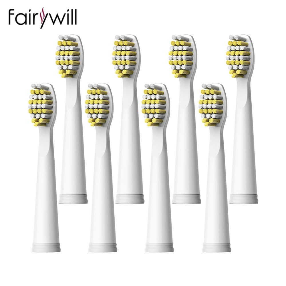 Fairywill Tooth Brush Heads Toothbrush Heads Replacement Soft Bristle Strong Cleaning for FW-507 FW-508 FW-917 FW-959 FW-551