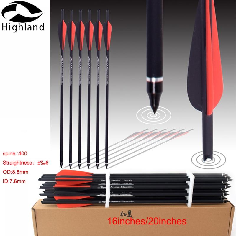 Стрелы для стрельбы из лука, 6 шт., со сменными наконечниками, карбоновые стрелы для стрельбы из лука, арбалетов, болтов