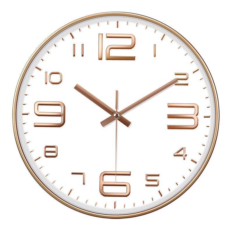 Reloj de pared grande, silencioso, de cocina, diseño moderno, colgante grande, para...