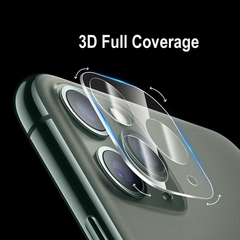 New 9D Camera Protector on for iPhone 11 Pro Max Full Back Lens Protective Glass Screen Protector Fo