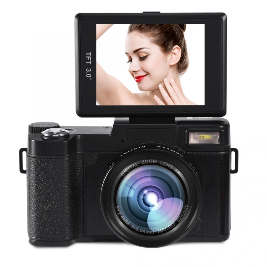 24MP Volle HD 1080P 4 Mal Digitale Zoom Kamera 180 Grad Drehbarer Bildschirm Kamera Video Vlog Kamera Camcorder