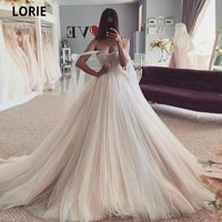 lorie beach wedding dresses beading puffy tulle princess bridal gowns with lace up off the shoulder elegant wedding party dress