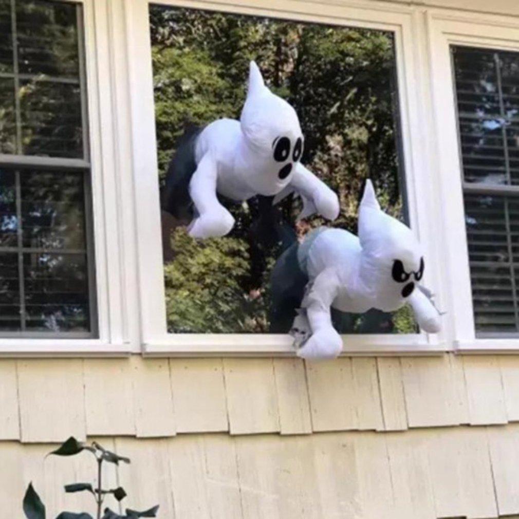 Забавные наклейки на окна Хэллоуин, привидения разбивания окон, декоративные наклейки на окна Хэллоуина, игрушка для розыгрыша, игрушка-пар...