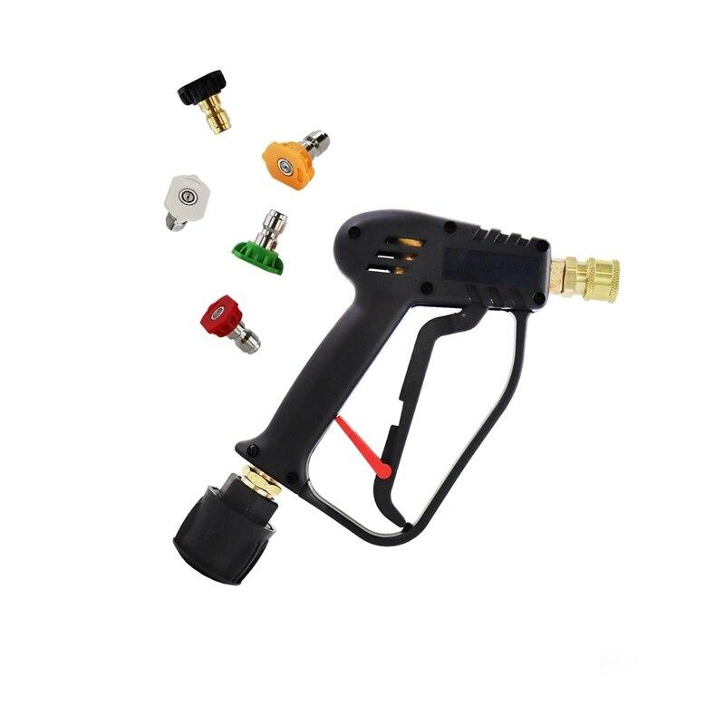 Swivel Bottom High Pressure Gun With Quick Connect Color Nozzle Kit For Karcher / Nilfisk / Bosch Black&Decker Car Wash