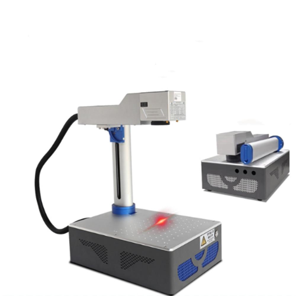 Fiber Laser Marking Machine Mini Foldable Portable Metal Engraving Laser Engraving Coding Machine