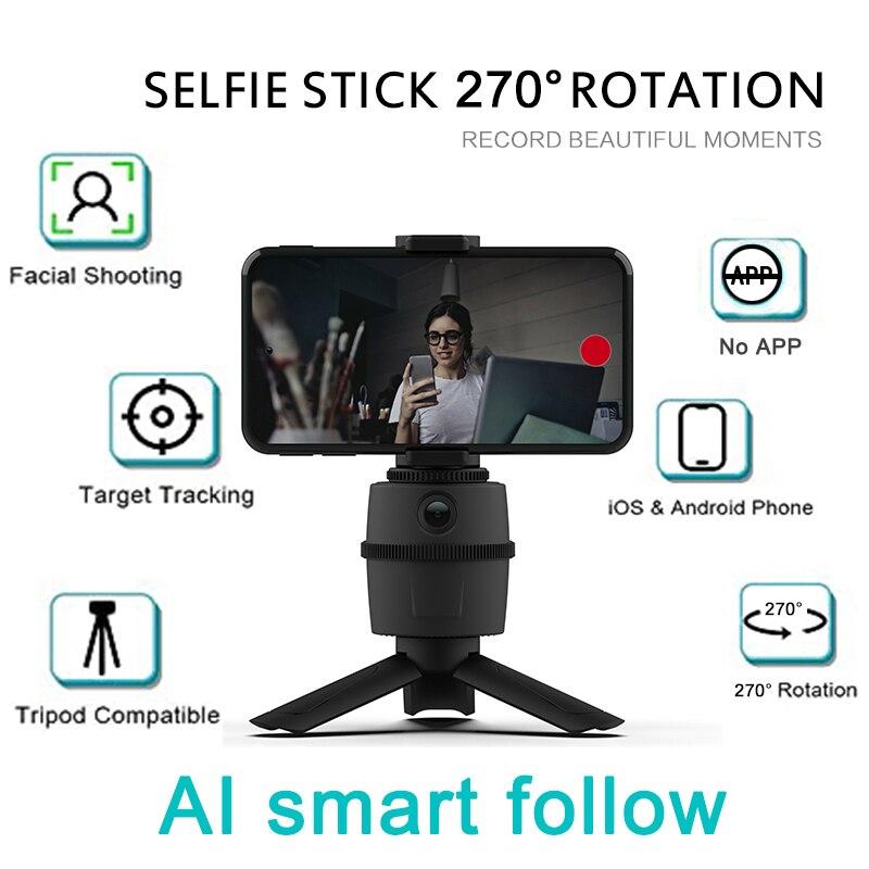 720P HD CÁMARA DE ORDENADOR Webcam IA seguimiento facial 270 ° giratorio inteligente PTZ Robot de seguimiento de objetos personales Cámara Gimbal de mano