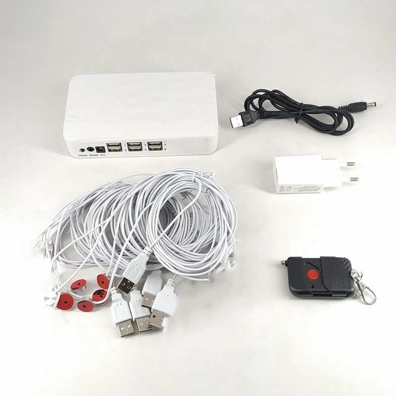(3 Set/Lot) Mobile Retail Shop Accessories EAS System 6-Port USB Sticker Alarm Sensor Security Controller enlarge
