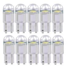 10PCS 2020 새로운 T10 W5W WY5W 168 501 2825 COB LED 자동차 웨지 주차 빛 측면 도어 전구 악기 램프 자동 번호판 빛