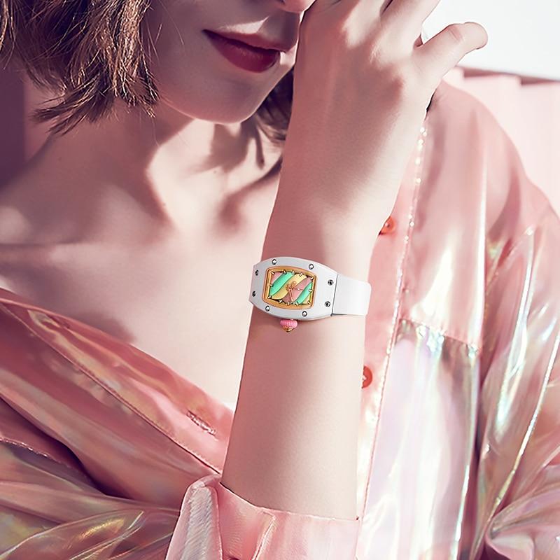FEICE Women's Automatic Mechanical Watch Waterproof Fashion Luxury Simple Barrel Watch Sapphire Watch Mirror Wrist Watches FM606 enlarge