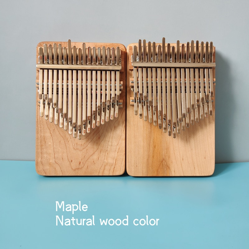 Kalimba 34 key Handmade Chromatic Thumb Piano Double Row Keyboard Wooden Musical Instrument enlarge