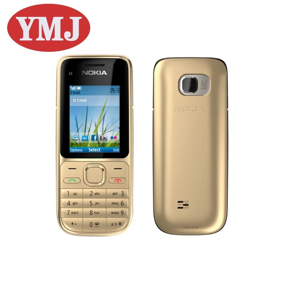 Перейти на Алиэкспресс и купить Nokia C2-01 б/у-добавить в «Мои желания» оригинальный Nokia C2-01 разблокировать телефон 2,0 дюйм3.2MP Bluetooth русский/арабский/ивритская клавиатура GSM/WCDMA 3G тел...