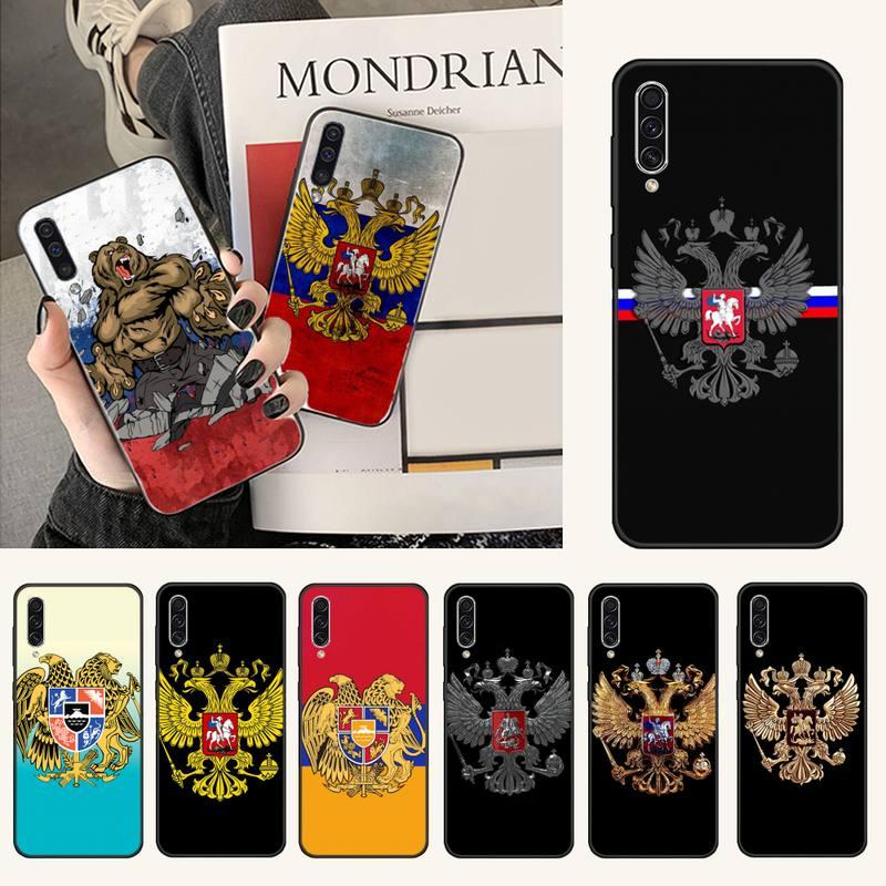 Armenien Albanien Russland flagge Emblem Coque Telefon Fall Für Samsung A20 A30 30s A40 A7 2018 J2 J7 prime j4 Plus S5 Hinweis 9 10 Plus