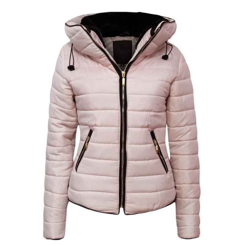 ZOGAA corto Mujer invierno parkas chaqueta con capucha de algodón acolchado chaquetas para mujer otoño femenino inverno sólido ajustado cremallera parka abrigos