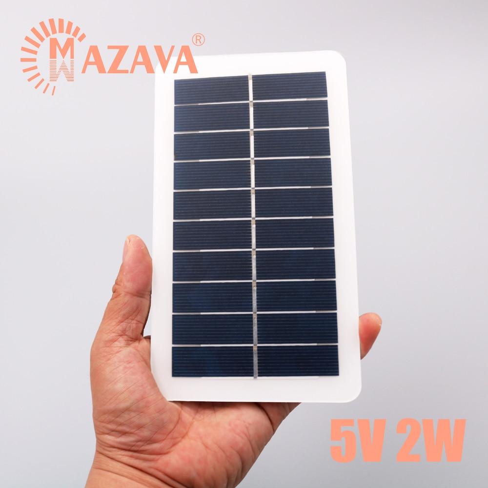 1Pcs 5V 2W Output USB Solar Battery Solar Panel Outdoor Portable Solar Charger Pane