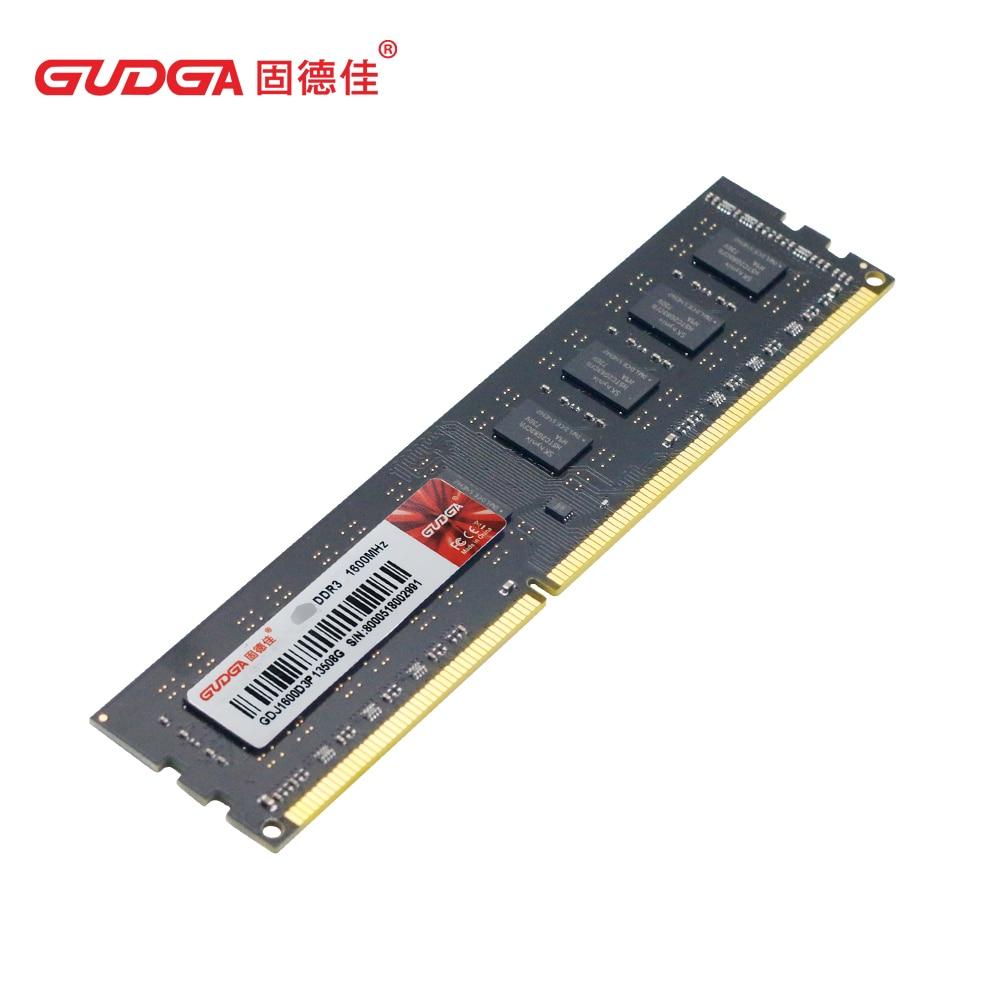 Nouveau GUDGA DDR3PC mémoire vive DDR3 4GB 1600 Mhz pour ordinateur de bureau DDR3 memoria Ram ddr3 4gb