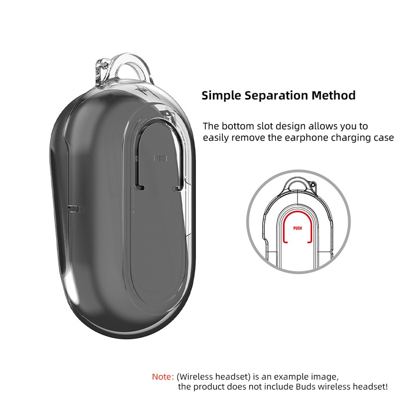 Transparent Wireless Bluetooth Headset Cases for Samsung Galaxy Buds Plus + & Buds Hard Shell Protective Cover Box Accessories enlarge