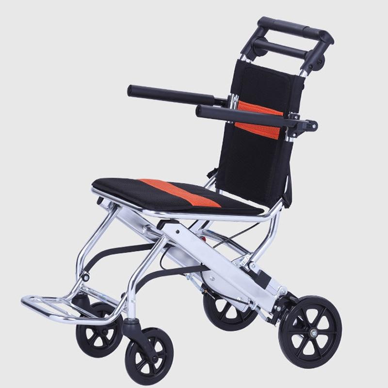 كرسي متحرك سكوتر صغير بسيط خفيف قابل للطي خفيفة للغاية للسفر لعربة المسنين
