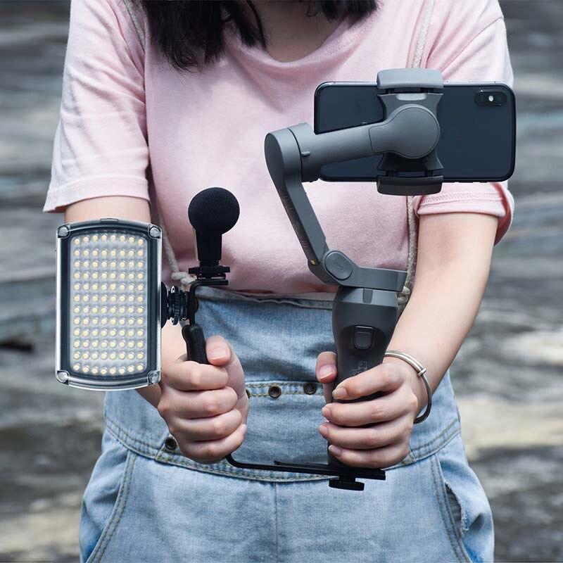 96 lámpara de luz LED para Video + soporte en forma de L Luz de relleno para cámara Zhiyun/Feiyu/Gopro