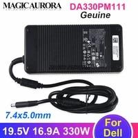 genuine da330pm111 adapter for alienware r1 r2 m17 m18 x51 laptop charger 19 5v 16 9a adp 330ab b adp 330ab d 0xm3c3 y90rr xm3c3