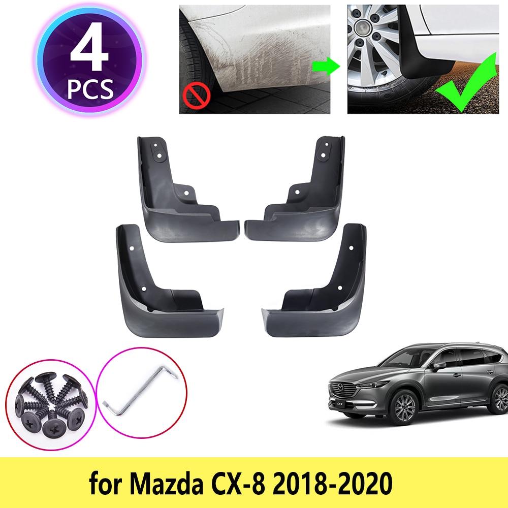 4 Uds para Mazda CX-8 CX8 CX 8 2018 2019 2020 guardabarros protector de guardabarros delantero rueda trasera accesorios de coche