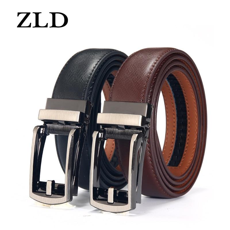 ZLD Black and brown men's belt luxury fashion brand automatic buckle ratchet belt comfortable click belt male gift designer belt