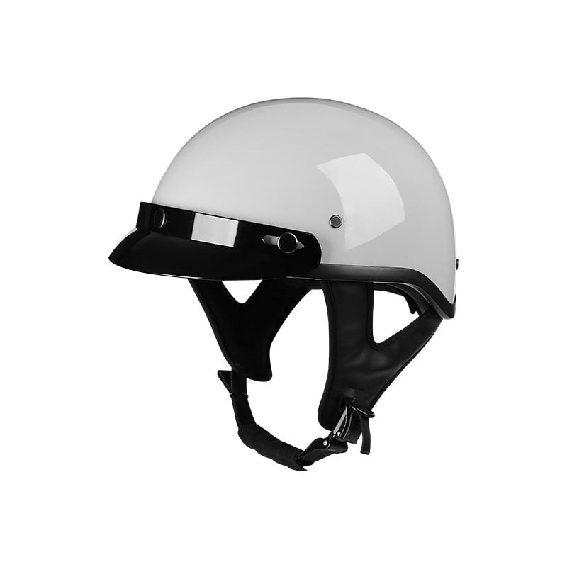 Capacetes Para Moto открытого половина Moto Винтаж Мотоцикл Байкер для верховой езды аварии скутер крейсер чоппер