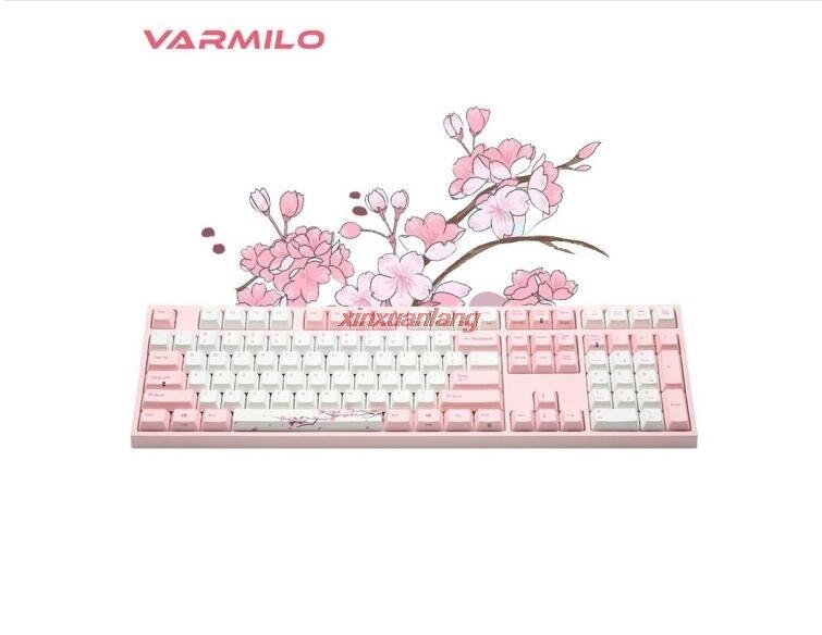 Varmilo ساكورا 68key/87key/108key السلكية لوحة المفاتيح الميكانيكية لا LED الكرز MX التبديل