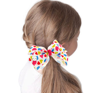 1 Set 6pcs New Kids Children Accessories Hairpins Barrettes Baby Ribbon Bow Flower Headwear Hair clips Girls Hair bows BB012D