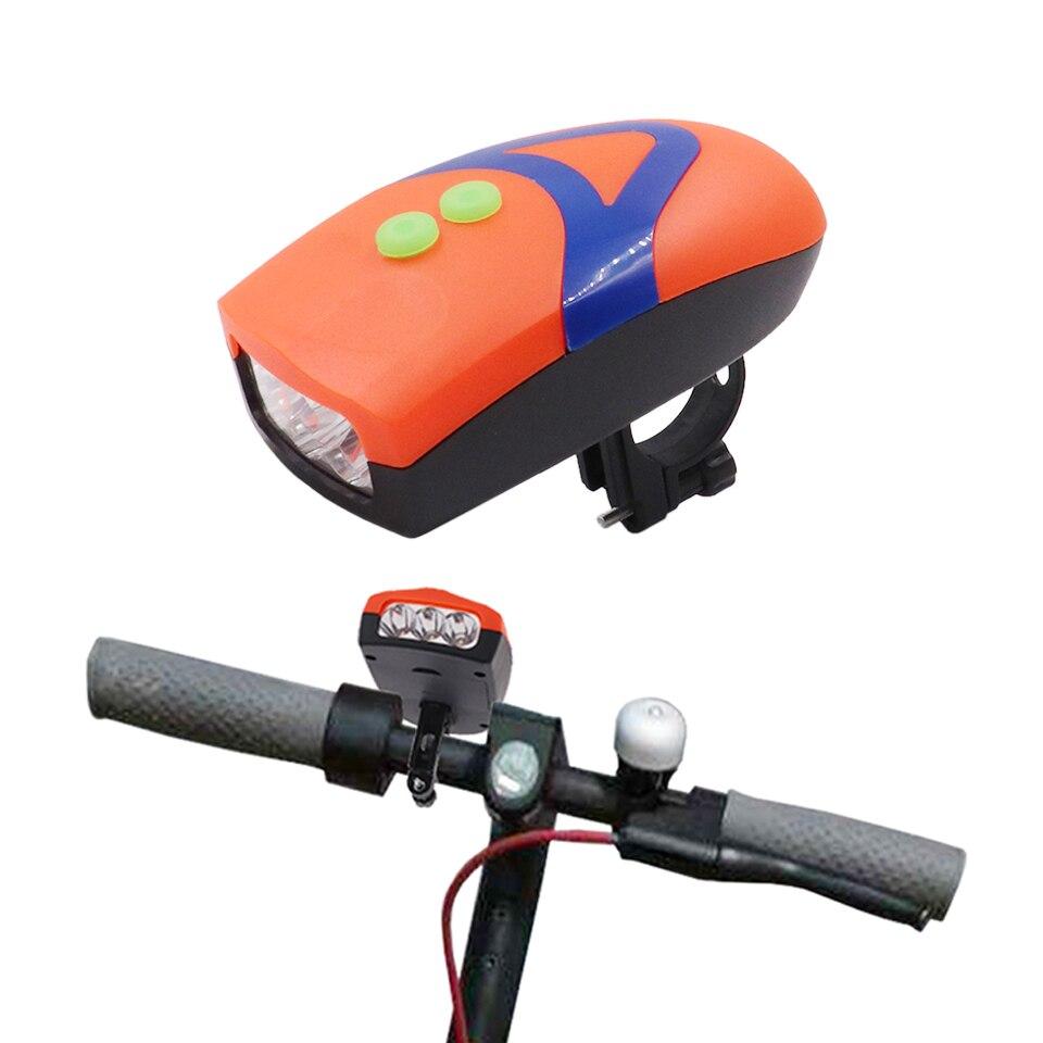 3 LED 2in1 lámpara de faro impermeable con luz de alarma de campana electrónica de cuerno para xiaomi M365 pro linterna de scooter eléctrico