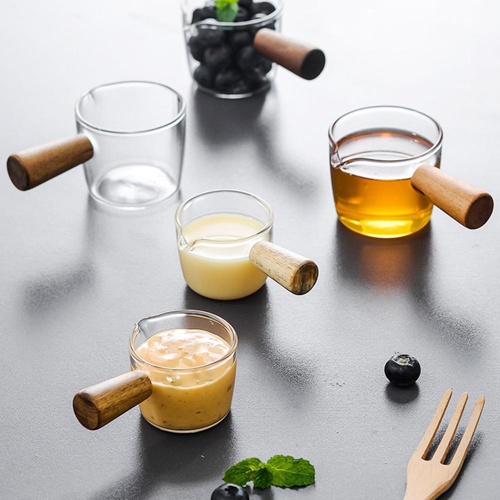 S/L утолщенная чаша для приправ прозрачная ручная рисованная тарелка для соуса стеклянный соус уксус тарелка для закусок посуда кофейная ми...