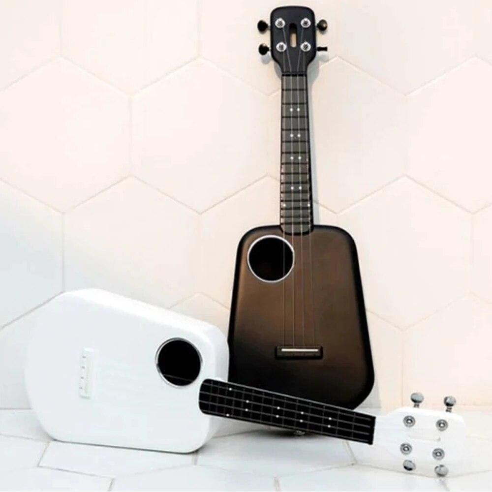 Укулеле популярное с 2 светодисветодиодный и управлением через приложение, умное USB укулеле, 4 струны, 23 дюйма, для концерта, из АБС-пластика, акустическая электрическая гитара