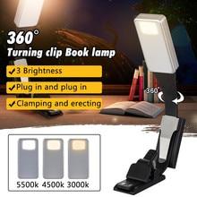 360 Leeslamp Boek Licht Lamp Clip Dunne Warm Wit Verlichting Flexibele E Lezen Boek Licht Usb Oplaadbare Licht voor Kindle