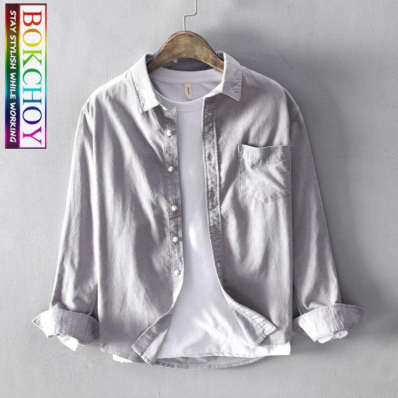 Сафари Мужская рубашка осень и зима новый стиль Вельветовая Мужская Повседневная рубашка мужская рубашка