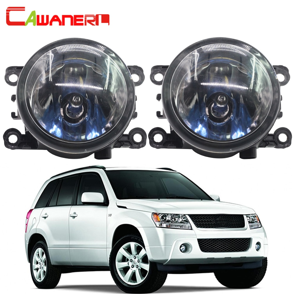Cawanerl 100W Car Halogen Fog Light DRL Daytime Running Lamp For Suzuki Grand Vitara 2 / II Closed Off-Road Vehicle JT 2005-2015