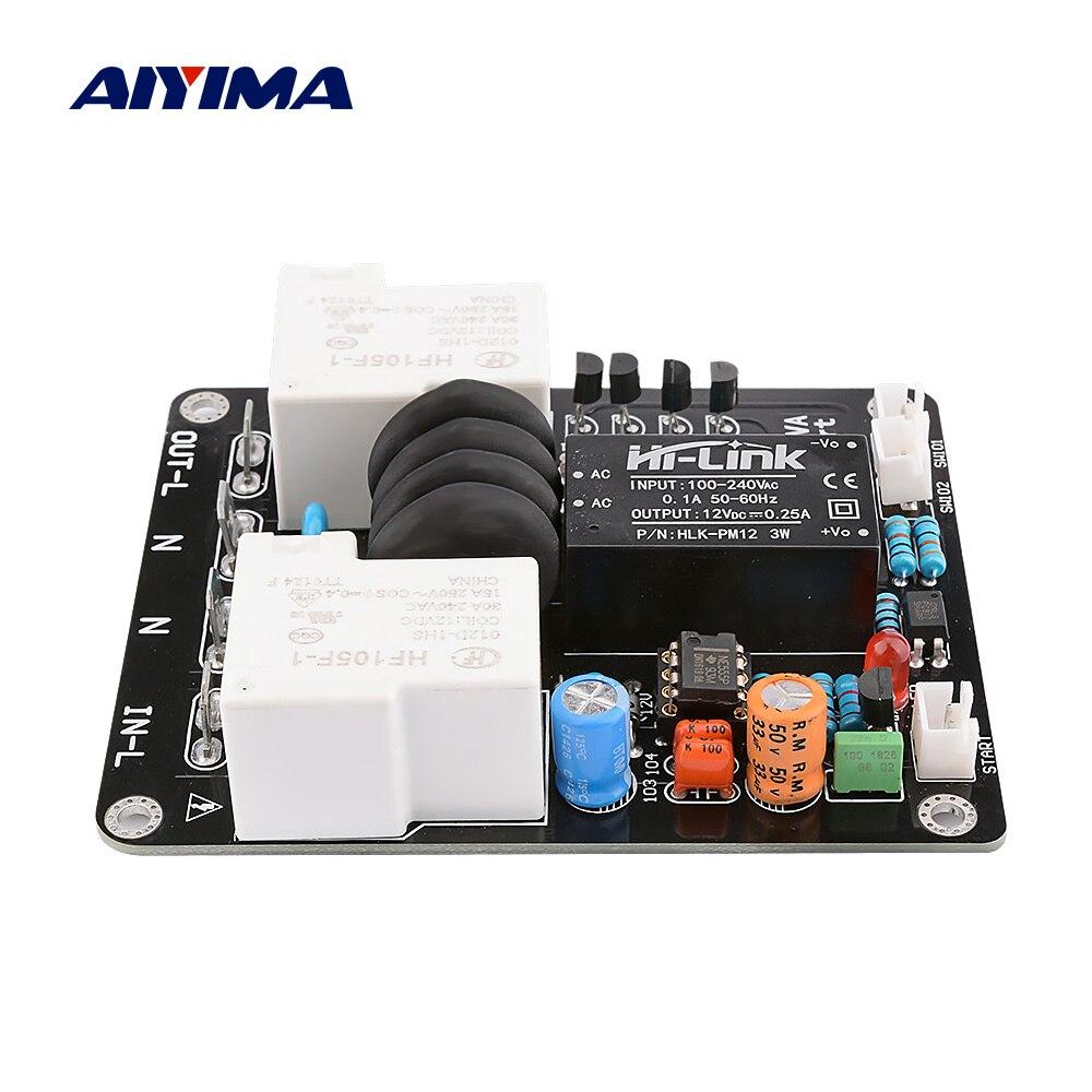 AIYIMA 2000W Placa de inicio suave DIY amplificador de alta potencia 30A Control de temperatura Dual fuente de alimentación retardo arranque suave 105 -235V