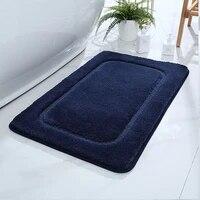home solid color high hair super absorbent bathroom door mats bedroom non slip foot pad bath rug kitchen super soft mat