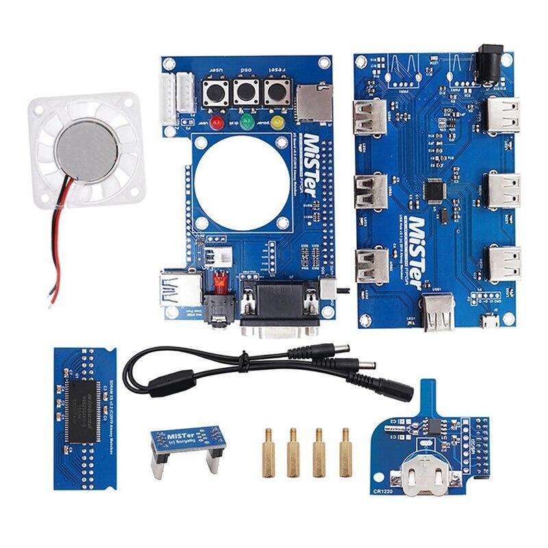USB HUB V2.1 Extender Board + Mister SDRAM + Mister-RTC + FPGA IO Board with Cooling Fan Set for Terasic DE10-Nano