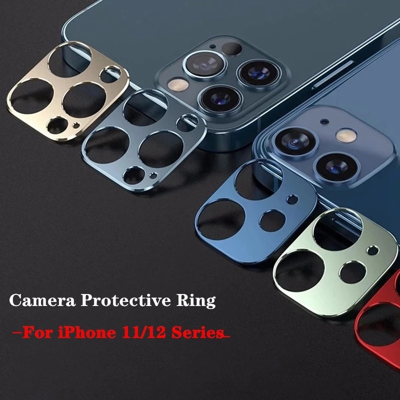 Camera Lens Metal Ring For iPhone 11 Pro Max Tempered Screen Protector Glass Film For iphone 11pro m