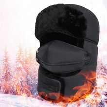 1PC Men Women Winter Russian Hat Trooper Bomber Snow Ski Waterproof Warm Hat