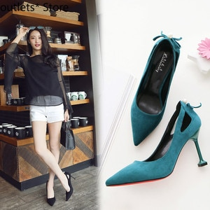 New Fashion Women's Shoes High Heels Spring and Autumn Pointed Black High Heels Fine Heel Bow Mid Heel Single Shoes Women