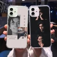 american tv riverdale series cole phone case transparent for iphone 12 11 mini pro xs max 6 6s 8 7 plus x 5s se 2020 xr