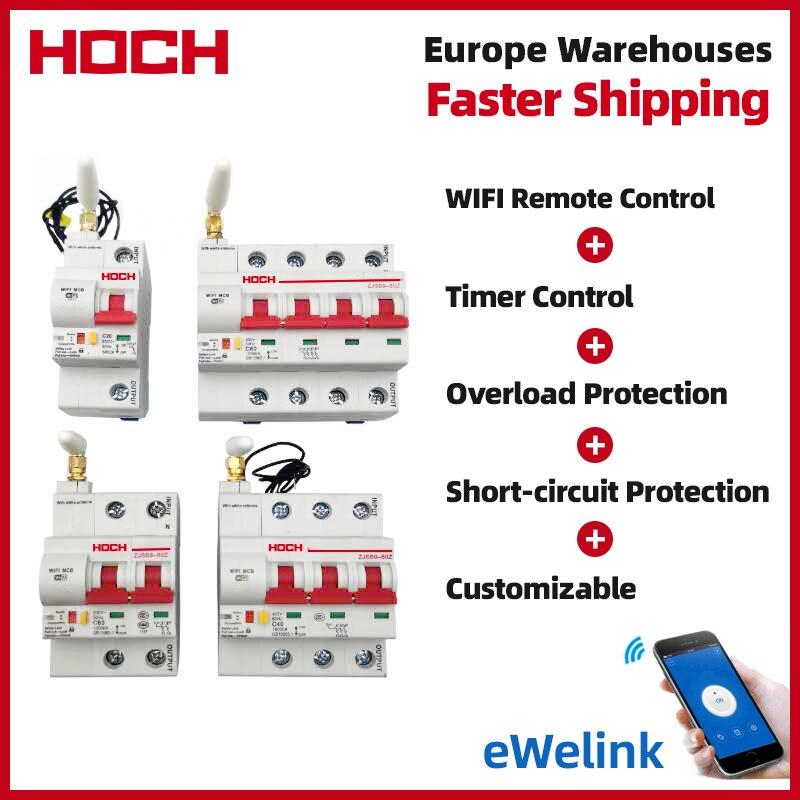 HOCH ZJSB WIFI قطاع دارة الموقت التحكم عن بعد 2P eWelink App الذكية التلقائي التبديل الذكي مصنع شحن مجاني