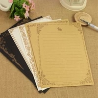 8 pcsset european vintage style writing letter paper love kraft letters good quality culture stationery office school supplies