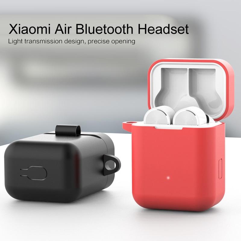 Funda de protección de auriculares de silicona a prueba de polvo inalámbrica bluetooth para funda protectora a prueba de caídas caja de almacenamiento para Xiaomi