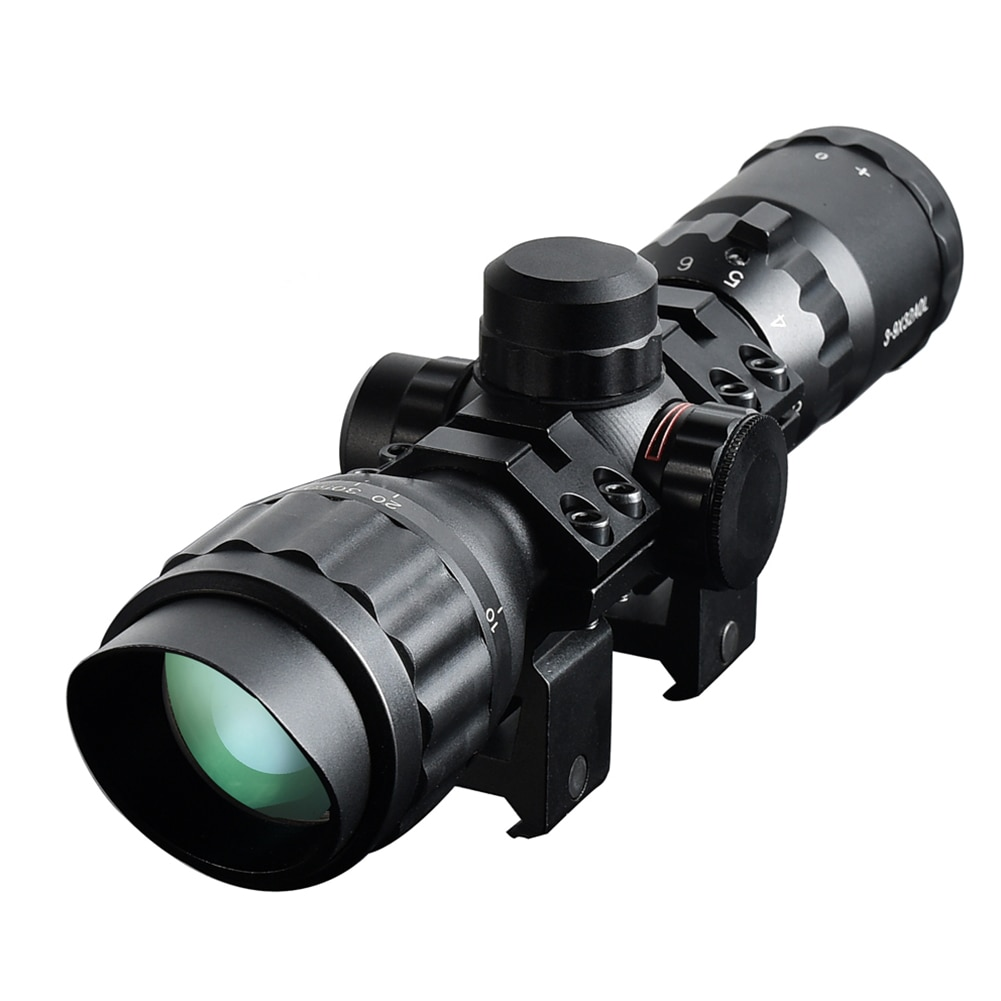 Monoculars 3-9X32AOL Optical Scope Tactical Rifle Red And Green Lighting Rangefinder Sniper