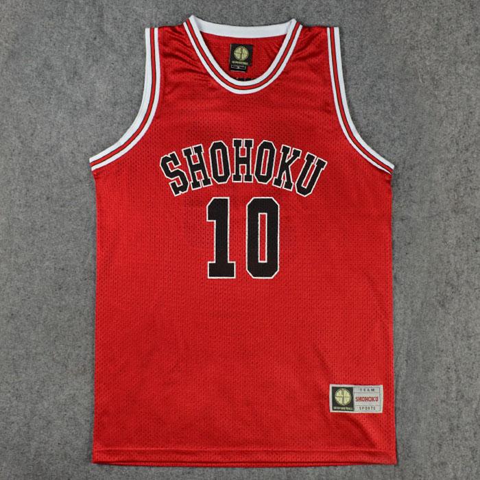 Shohoku School Basketball Team 1-15 Sakuragi Hanamichi Jersey Tops Shirt Sports Wear Uniform Cosplay Size M L XL XXL