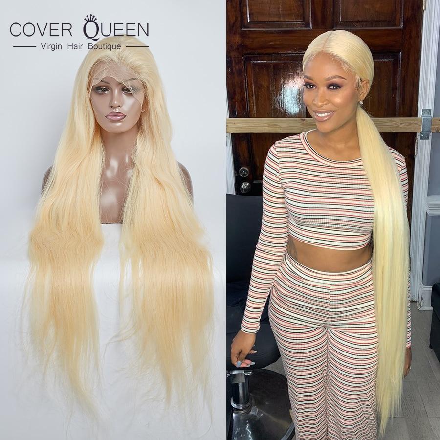 30 32 34 36 38 40 pulgadas de pelo largo de encaje pelucas de cabello humano 613 pelo rubio miel Pre desplumado sin pegamento para mujer negra envío gratis