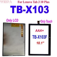 aaa for lenovo tab 3 10 plus tb x103f tb x103 tb x103 x103f lcd display touch screen digitizer assembly for samsung tb x103 lcd