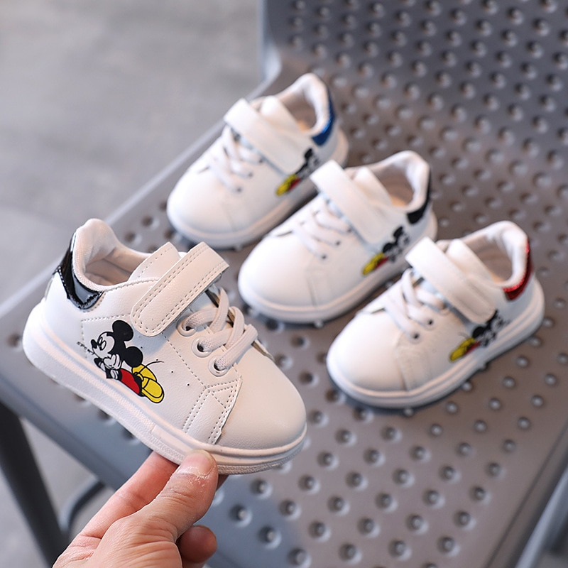 Classic 2021 Fashion Baby Casual Shoes Disney Micky High Quality Infant Tennis Sports Cute Baby Boys Girls Sneakers Toddlers